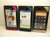 NTTドコモ P-02D LUMIX PHONE モックアップ 3色セット