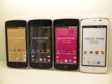 ソフトバンク 009SH AQUOS PHONE THE PREMIUM モックアップ 4色セット