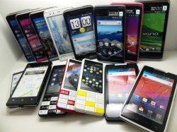 画像1: auのスマートフォン 15個詰め合わせセット エコノミーパック 【クリックポスト非対応商品】