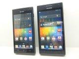イーモバイル GS03 アンドロイドスマートフォン モックアップ 2色セット
