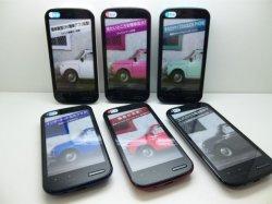 画像1: ウィルコム WX04SH AQUOS PHONE モックアップ 6色セット