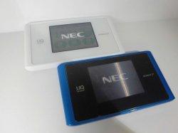 画像1: UQ WiMAX WX04 Speed Wi-Fi NEXT モックアップ 2色セット