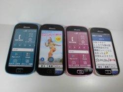 画像1: NTTドコモ F-03K らくらくスマートフォン me モックアップ 4色セット