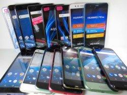 画像1: ワイモバイル&UQモバイルのスマートフォンモック 15個詰め合わせセット 【クリックポスト非対応商品】